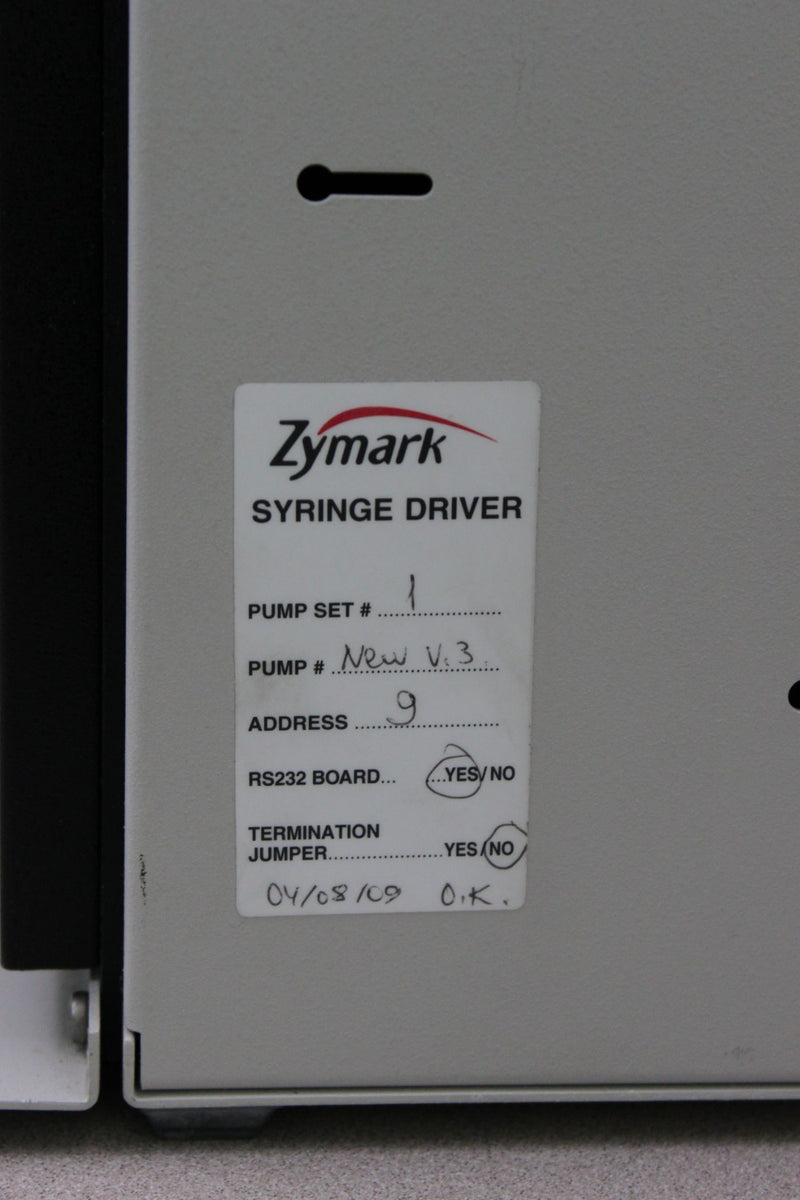 Used: Caliper Life Sciences Zymark 8-Channel 111719/B Syringe Pump & 75518/3 Driver
