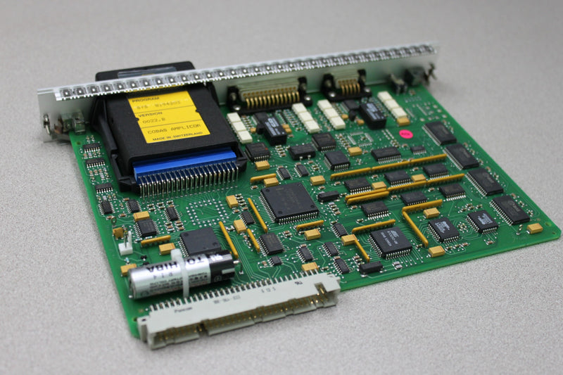Used: Roche PCB CPU Interfaces ECR 940201601 A w/ Memory Card from Cobas Amplicor
