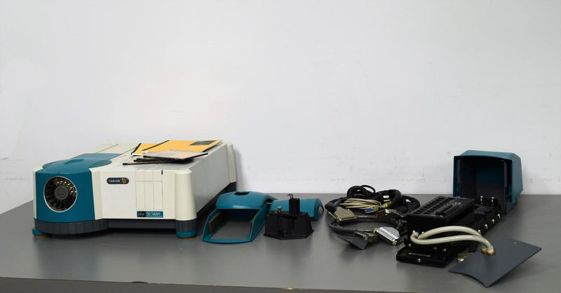 Used: Varian Cary 50 Tablet UV-VIS Spectrophotometer with 18 Cell Transport w/Warranty