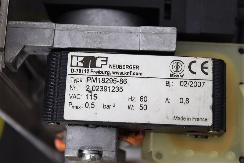Used: KNF Neuberger PM18295-86 Dual Mount Diaphragm Vacuum Pump 115V with Warranty