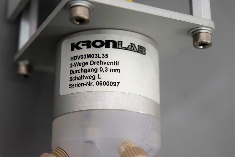 Used: Kronlab 3-Port Valve Faulhaber 32/1 46:1 Motor and Heds-5500 Encoder Warranty