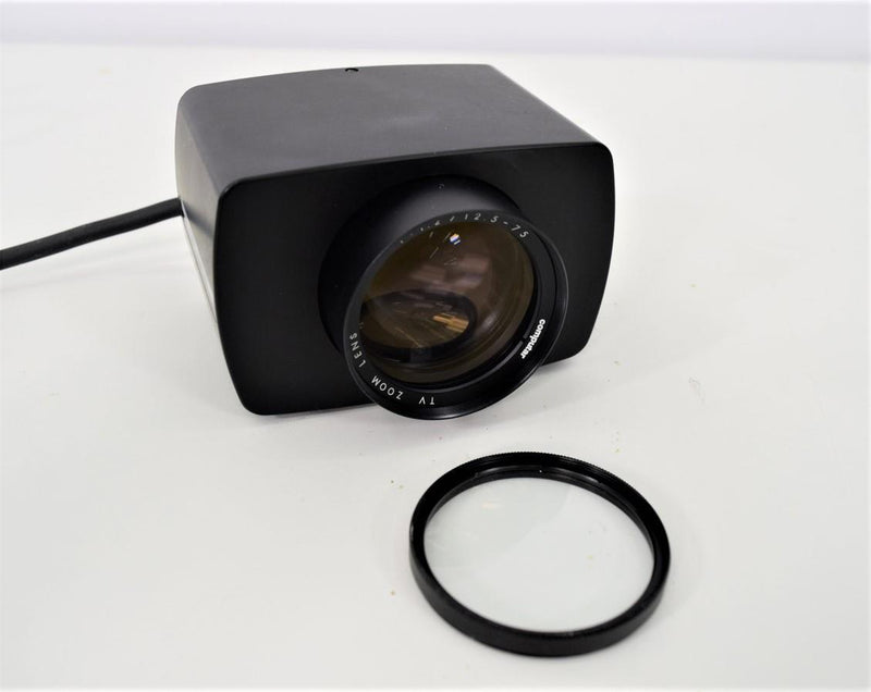 Used: Computar M6Z1212M 6X 12.5-75mm Motorized Zoom Lens with 55mm +2 Close-up Filter