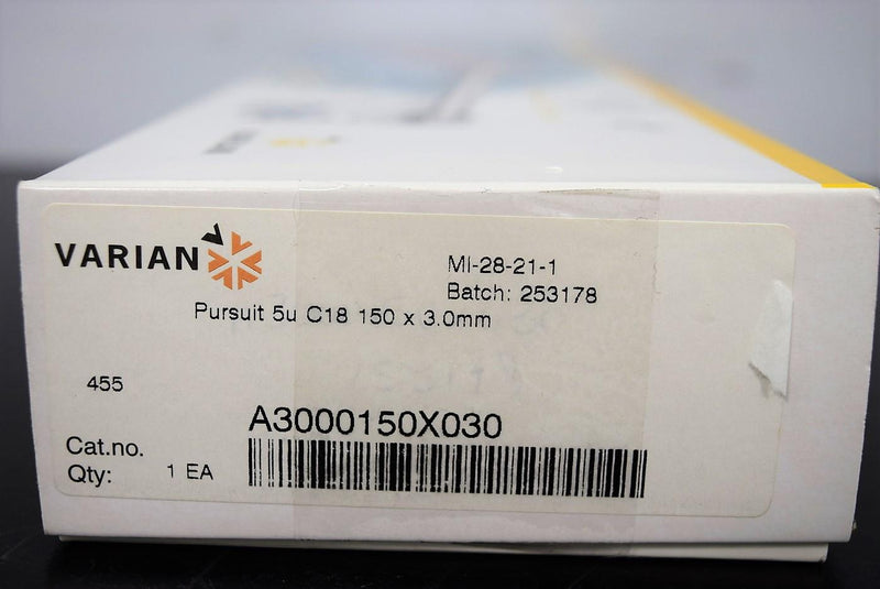 Used: Varian A2001150X020 Pursuit 3u C18-A 150x2.0mm HPLC Column with Warranty