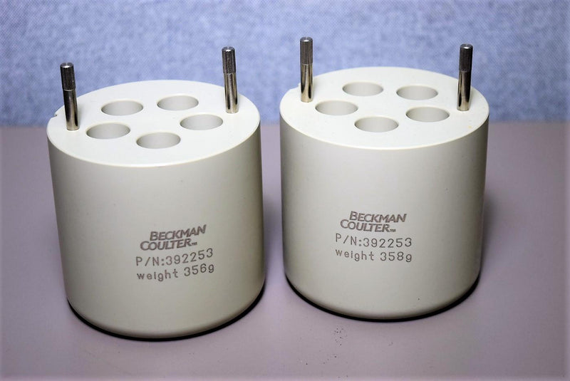 Beckman Coulter 392253 Swing Bucket Insert Adapter 5x15ml 358g Set of 2 Warranty
