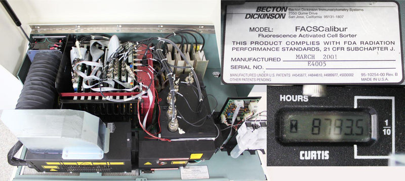 Used: Becton Dickinson FACSCalibur Flow Cytometer Fluorescence Activated Cell Sorter