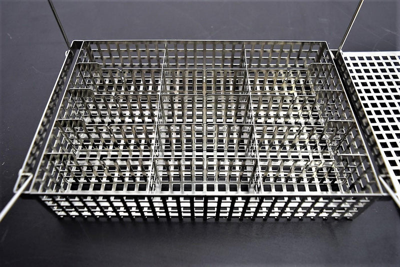 Used: Tissue Processor Specimen Basket Twelve Sections w/Lid and Handles Warranty