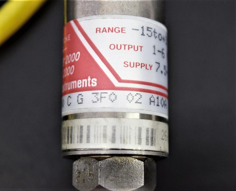 Used: Transinstrument Series 2000 Pressure Transducer 2000 C G 3F0 02 A10A Warranty