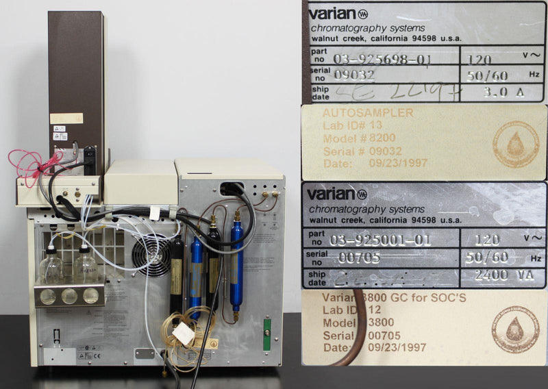 For Parts or Repair: Varian CP-3800 3800 GC Gas Chromatograph w/ 8200 AutoSampler & AutoDrive