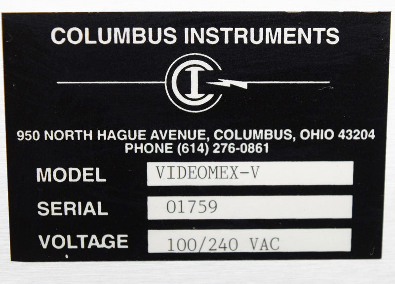 Used: Columbus Instruments Videomex-V Animal Activity Meter With Philips Video Monitor