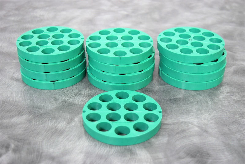 Used: Beckman 339180 Lot of 13-Discs 14x15mL Green Insert Adapters with Warranty