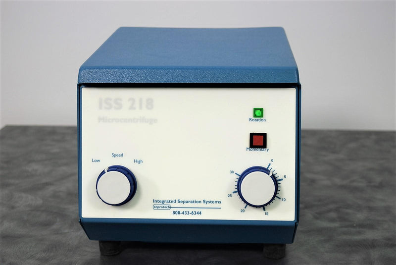 Used: Integrated Separation Systems ISS218 Enprotech Microcentrifuge w/ Rotor 18x3mL