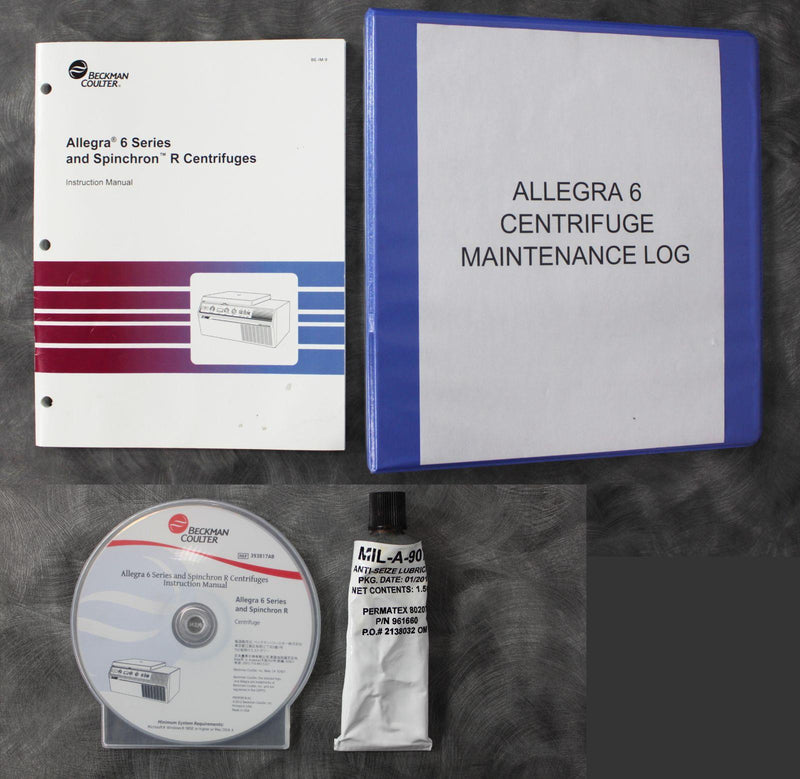Allegra 6 centrifuge instruction manual and disc