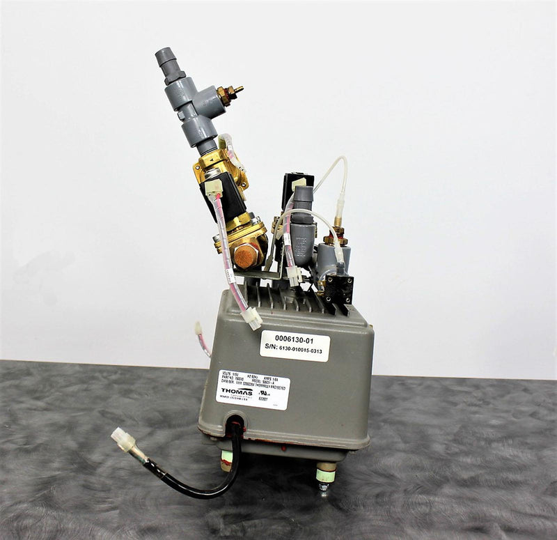 Used Thomas 5060V-A Pump with 3 SMC VXZ2240-04N-5GS1 Solenoid Valves w/Warranty