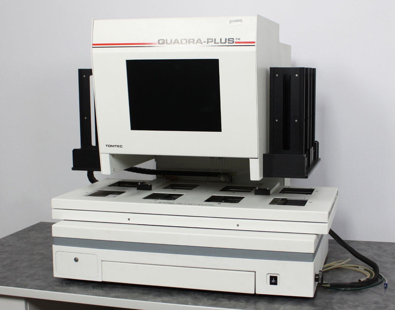 For Parts Or Repair: Tomtec Quadra Plus 500 Series Automated Liquid Handling Pipette System