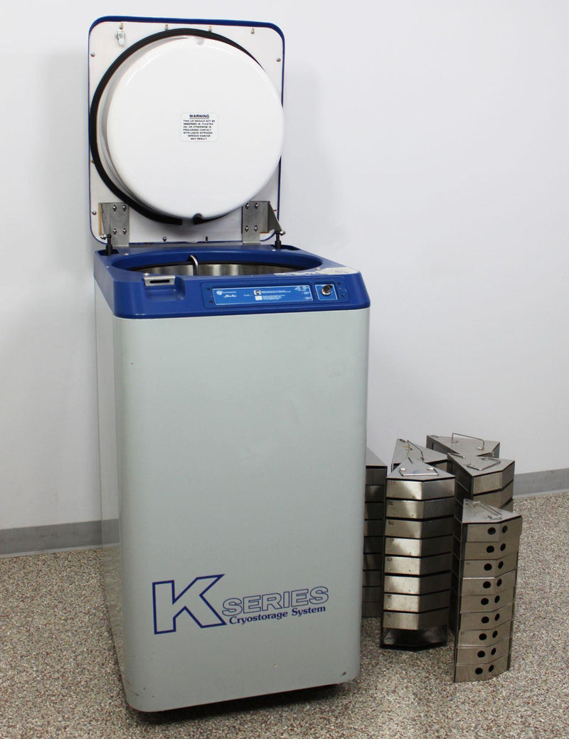 For Parts Or Repair: Taylor-Wharton K-Series CryoStorage 10K Cryogenic Freezer w/ 6 Racks