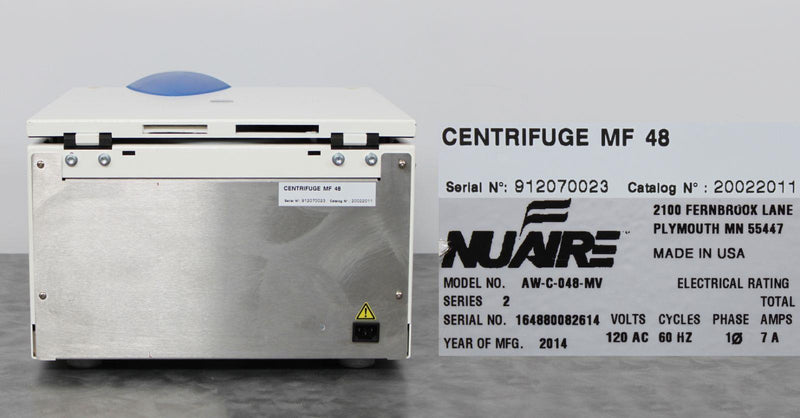 For Parts or Repair: Nuaire AW-C-048-MV Awel Refrigerated Centrifuge w/ SL-400 Rotor & Buckets