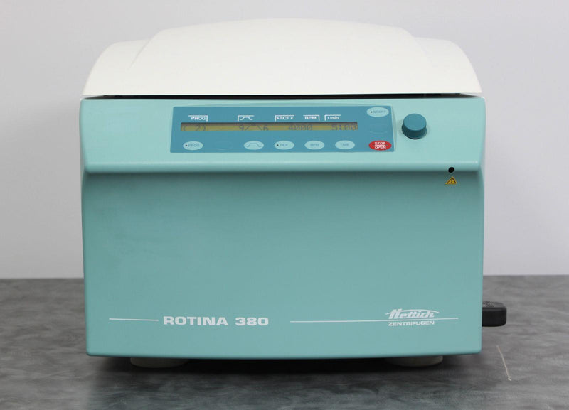 Used: Hettich ROTINA 380 Type 1701-30 High-Speed Benchtop Centrifuge w Rotor & Buckets