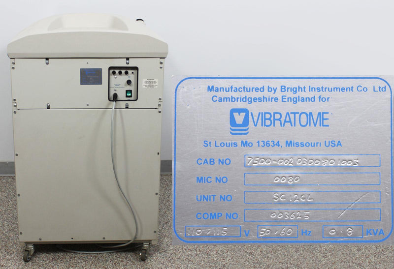Used: Bright Instruments Vibratome 7500 Cryostat Microtome w/ 90-Day Warranty