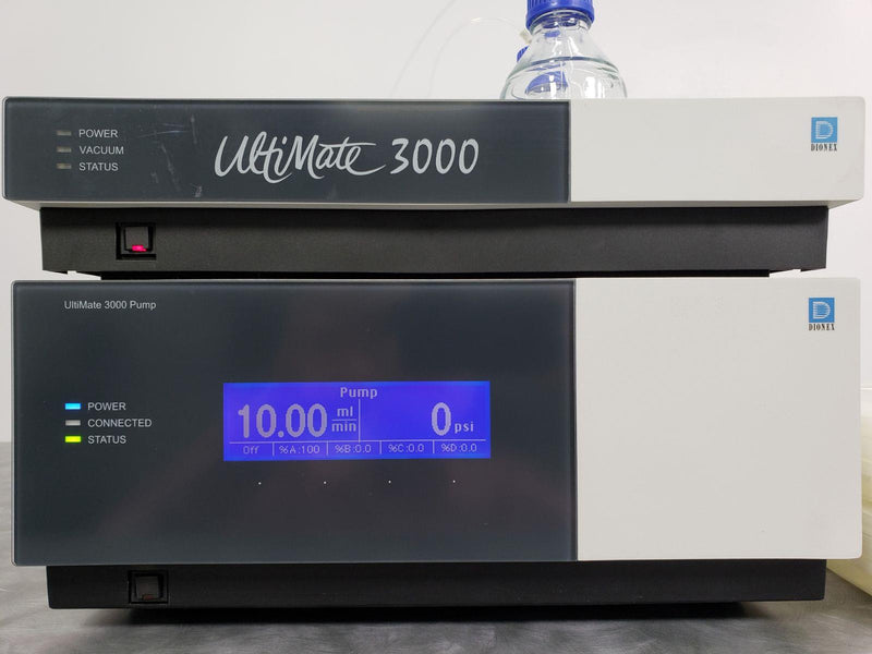 Used: Dionex UltiMate 3000 HPLC ISO-3100A Pump 5035.0010 & SRD-3200 Solvent Rack