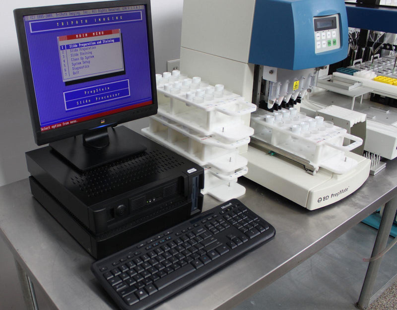 Used: BD PrepStain Slide Processor for Cervical Cytology w/ BD PrepMate & PC