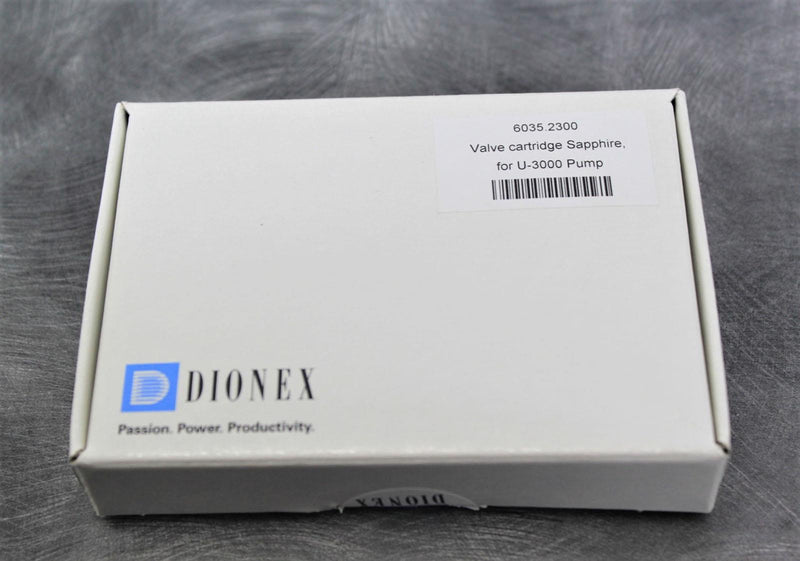 New/Opened: Dionex 6035.2300 Valve Cartridge Sapphire for U-3000 Pump w/90-Day Warranty