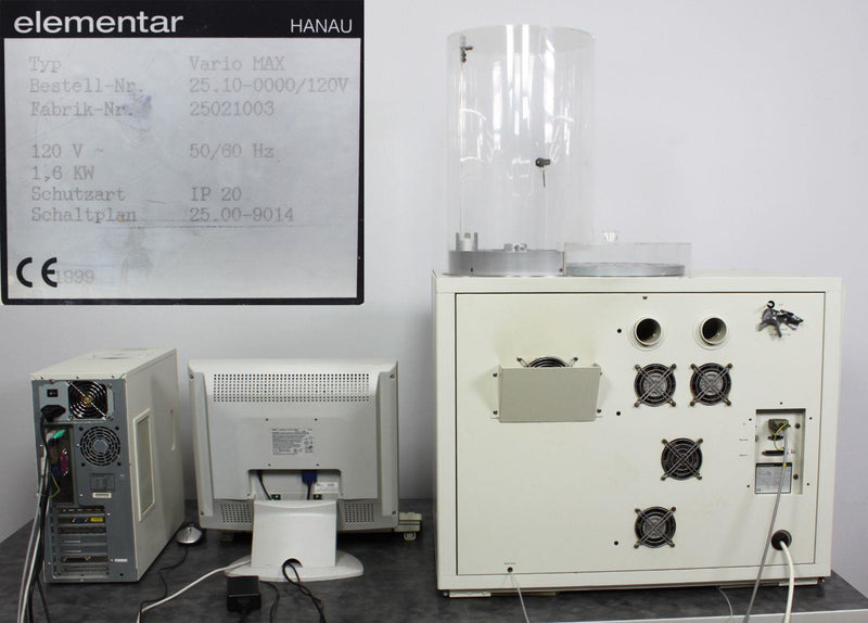 For Parts: Elementar vario MAX Macro Elemental CNS Analyzer with PC & VarioMax v5.10