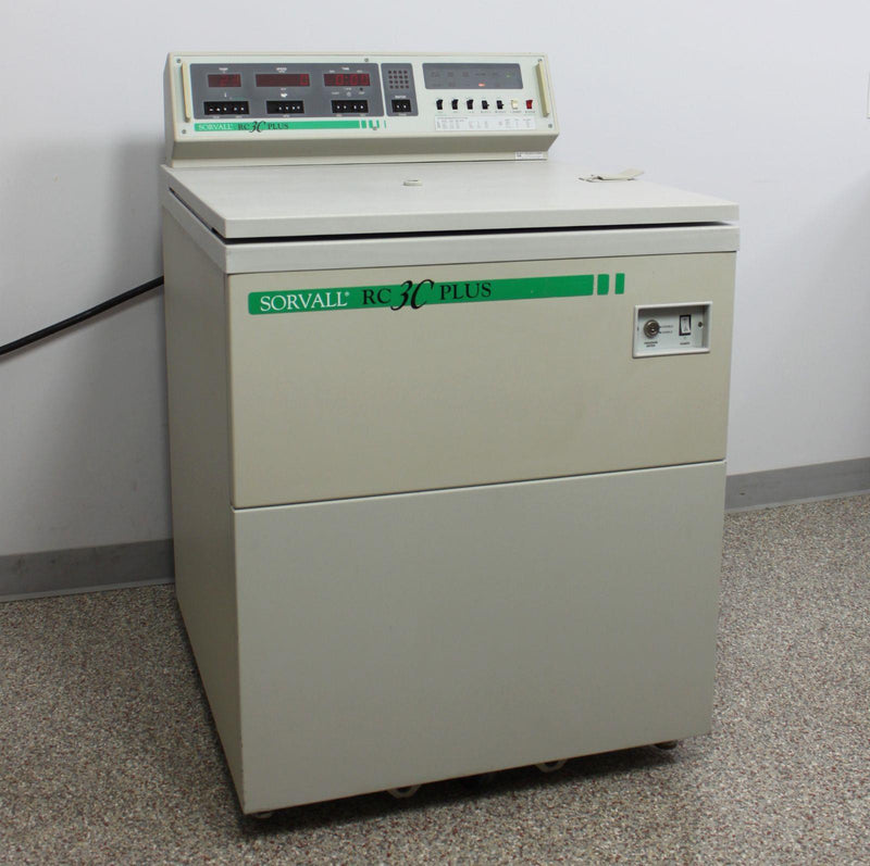Used: Sorvall RC-3C Plus High Capacity Refrigerated Floor Centrifuge w/ H-6000A Rotor