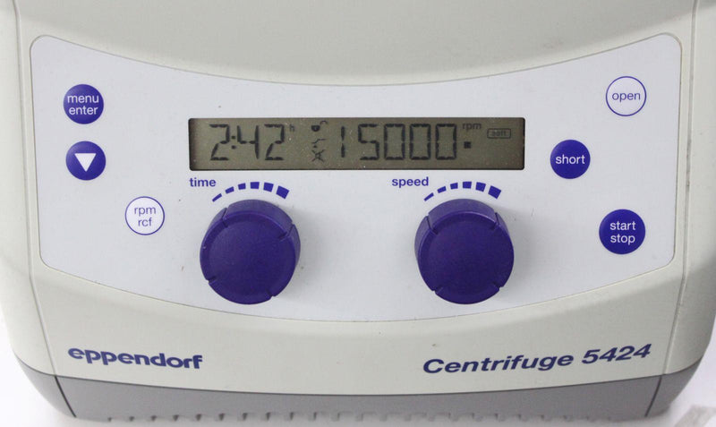 Used: Eppendorf 5424 Benchtop Microcentrifuge w/ Fixed-Angle Rotor FA-45-24-11