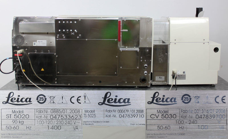 Used: Leica ST5020 Autostainer w/ CV5030 Coverslipper & TS5025 Transfer Station
