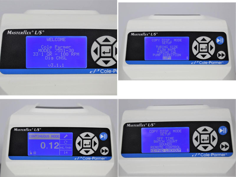 Cole Parmer 7551-30 MasterFlex L/S Digital Multichannel Heads Peristaltic Pump