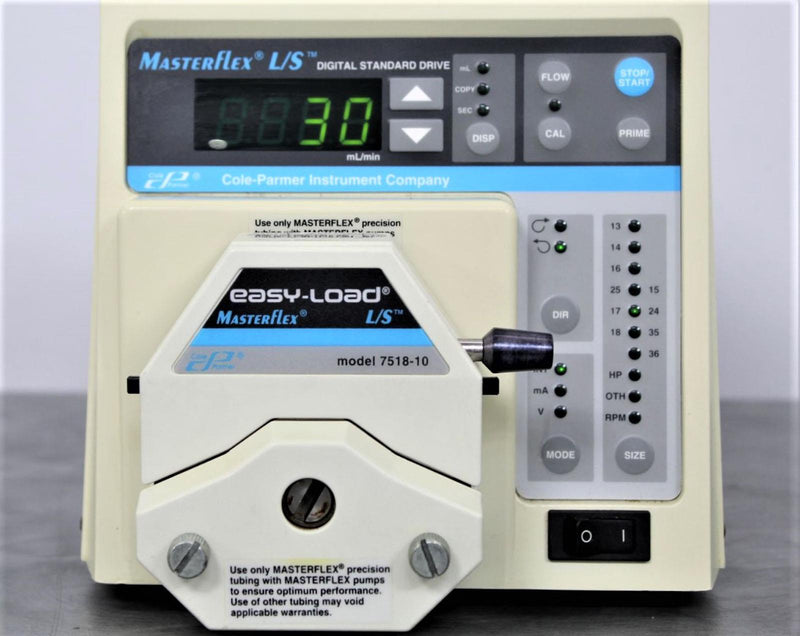 Used: Cole Parmer 7523-40 MasterFlex L/S Digital Peristaltic Pump with 7518-10 Head