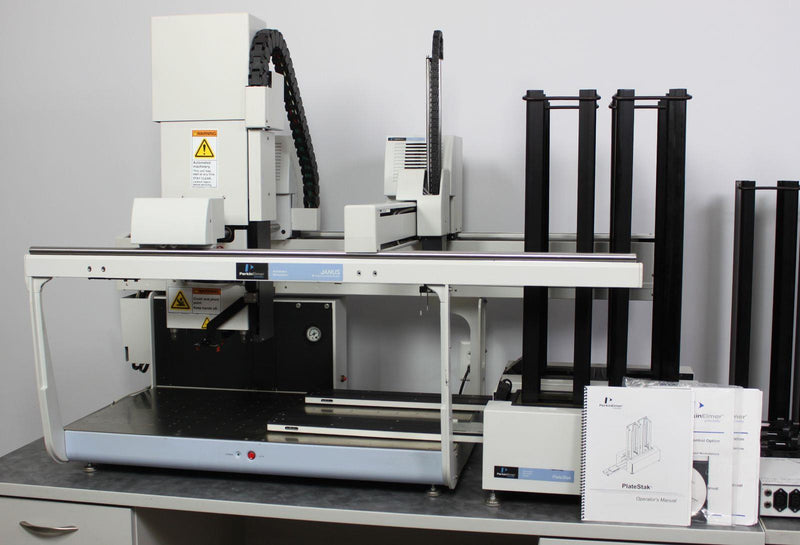 For Parts: Perkin Elmer JANUS Integrator AJIMG01 Automated Liquid Handler w/ PlateStaks