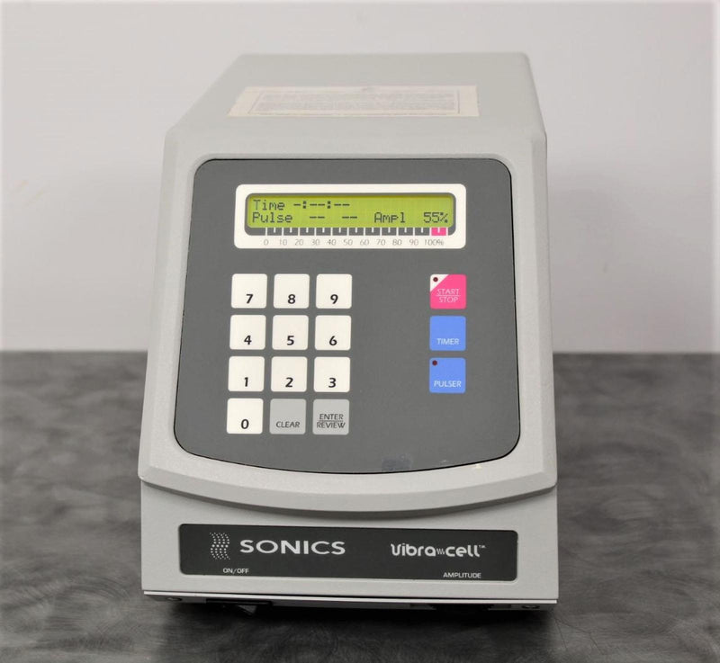 Used: Sonics VC750 Ultrasonic Liquid Processor Vibra Cell Amplitude with 90-Day Warranty