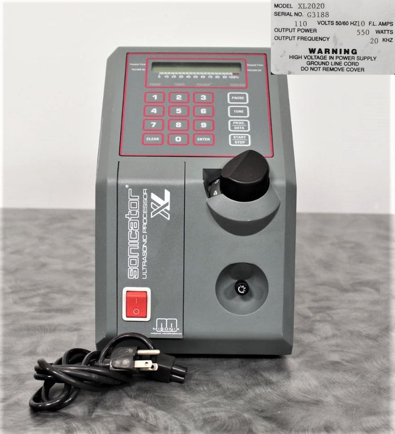 Misonix XL2020 Sonicator Ultrasonic Liquid Processor with 90-Day Warranty