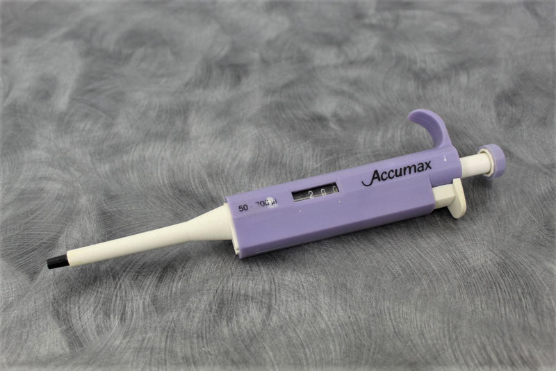 Accumax Single Channel Pipette 50-200µl with 90-Day Warranty
