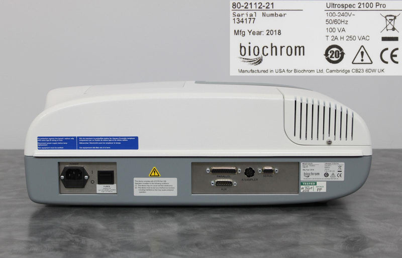New: BioChrom Ultrospec 2100 Pro UV/Vis Spectrophotometer 80-2112-21 w/ Warranty