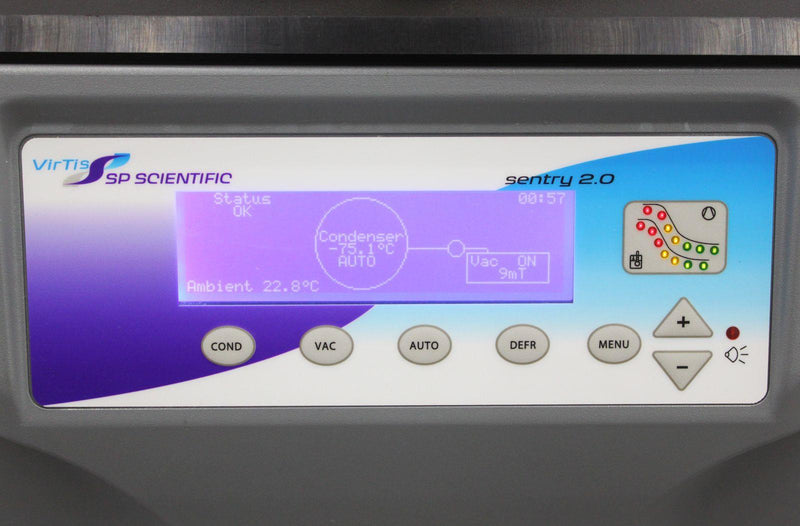 Used: VirTis SP Scientific Sentry 2.0 Benchtop Freeze Dryer Lyophilizer 4KBTXL-75