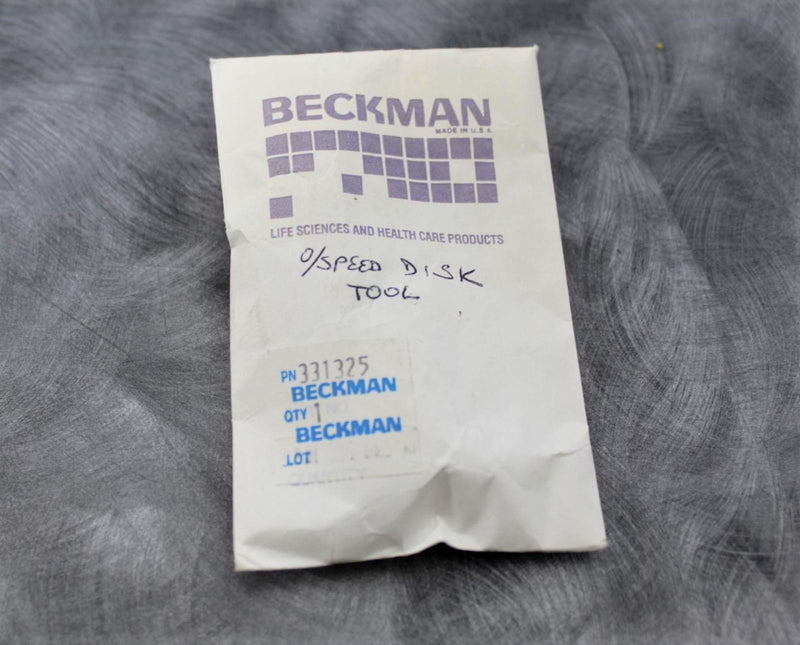 2 Beckman Coulter 331325 OverSpeed Disk Installation Tool with 90-Day Warranty