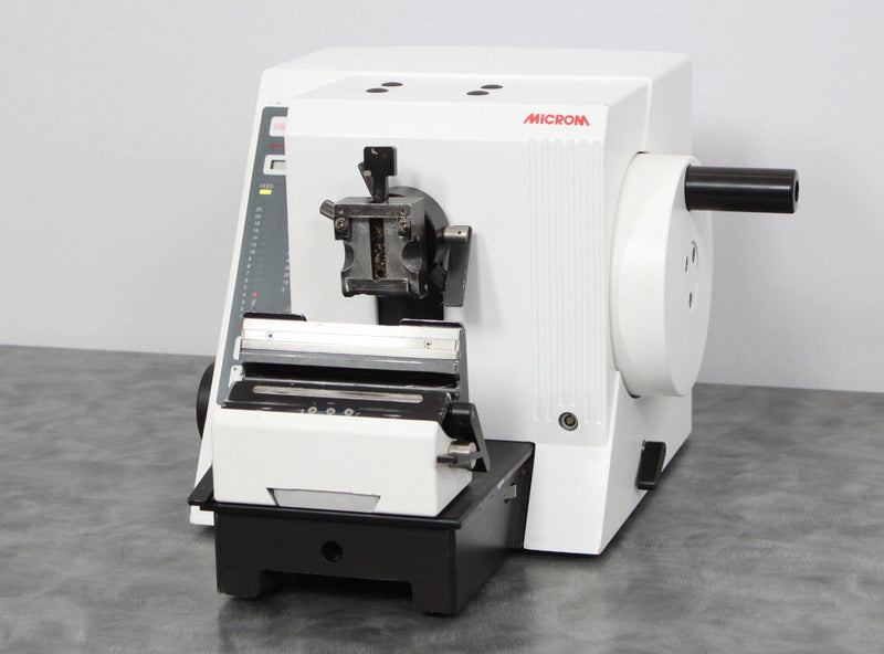 Used: Microm HM 335 E Motorized Electronic Rotary Microtome 903140 with Warranty