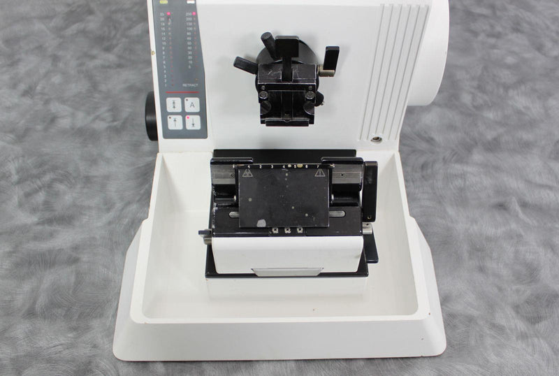 Used: Microm HM 335 E Motorized Electronic Rotary Microtome 903140 with Blade Holder