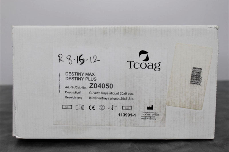 New/Opened: Tcoag Z04050 Destiny Max/Plus Cuvette Trays with 90-Day Warranty