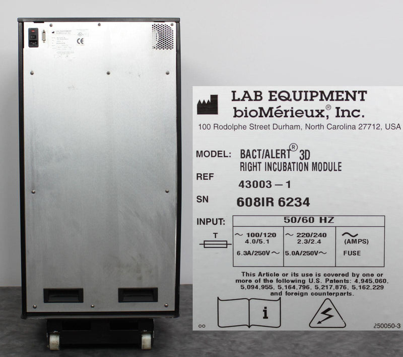 Used Guaranteed: bioMerieux BacT/ALERT 3D Right Incubation Module 43003-1w/ Bottle Racks