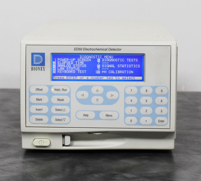 Used Guaranteed: Dionex ED50A HPLC Electrochemical Detector with DX LAN SCR-2 CPU/LAN