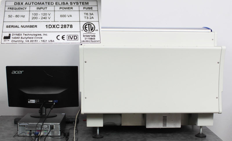 Buy a Used Dynex DSX 4-Plate Automated ELISA Processing Immunoassay w/ Revelation DSX v6.24