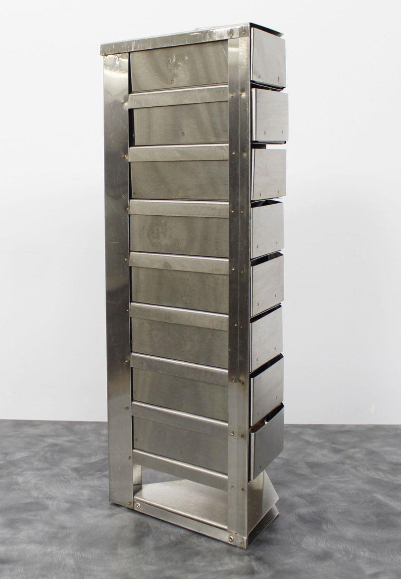 Used Guaranteed: Taylor-Wharton K-Series CryoStorage 9-Drawer Sample Rack 7.75x20.25 in. Triangle