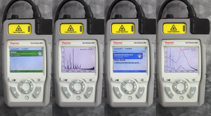 Used Thermo FirstDefender RMX & TruDefender FTX Handheld Chemical Detection Analyzer Up Close