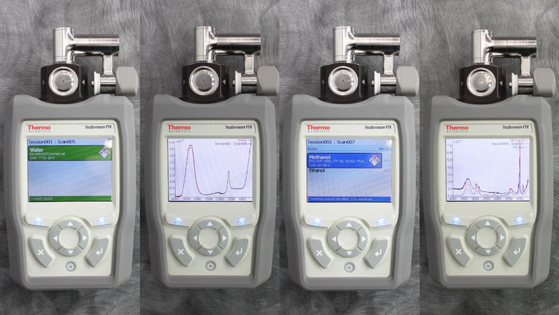 Thermo FirstDefender RMX & TruDefender FTX Handheld Chemical Detection Analyzer Zoomed In on Controls