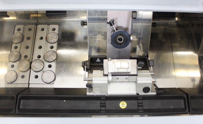 Used Guaranteed: Thermo Microm HM 550P Cryostat 956424 Microtome w/ Blade Holder & Specimen Discs