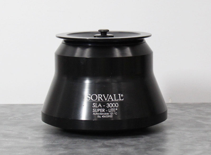 Used Sorvall 07149 SLA-3000 Super-Lite Centrifuge Fixed-Angle Rotor 6x500mL 12K RPM
