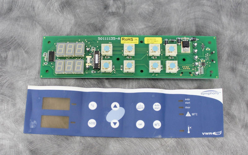 Used Guaranteed: VWR Symphony Incubator Digital Front Control Panel 50111135-A with Warranty